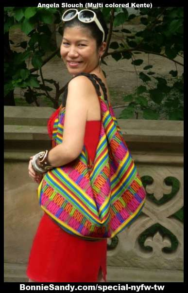 Angela Slouch-Multicolored Kente