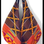 Ika Slouch Orange- Black Kente