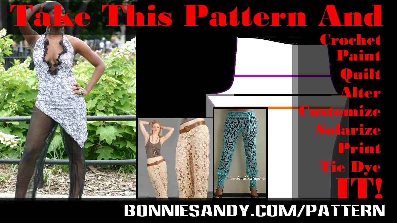 Sew open patterns for creatives