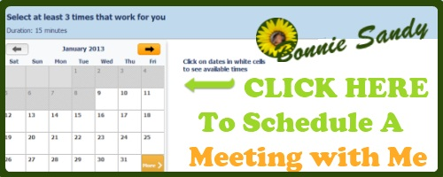 SCHEDULE a meeting with bonnie sandy