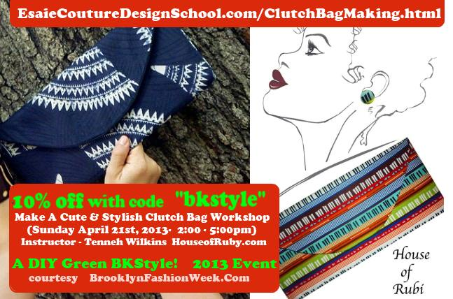 Make a cute stylish  clutch earth day workshop